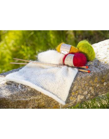 Pelotes de laine pur mohair
