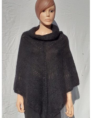 Poncho fines laine